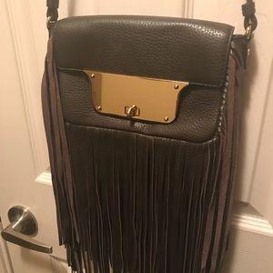 Milly Isabella dark brown Fringe Crossbody bag